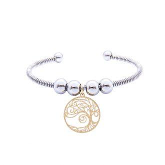 Babette bracciale in acciaio con IP oro B14306 4 You Jewels