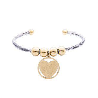 Babette bracciale in acciaio con IP oro B14308 4 You Jewels