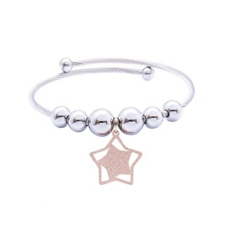 Babette bracciale in acciaio con IP rosa B14300 4 You Jewels