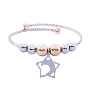 Babette bracciale in acciaio con IP rosa B14301 4 You Jewels