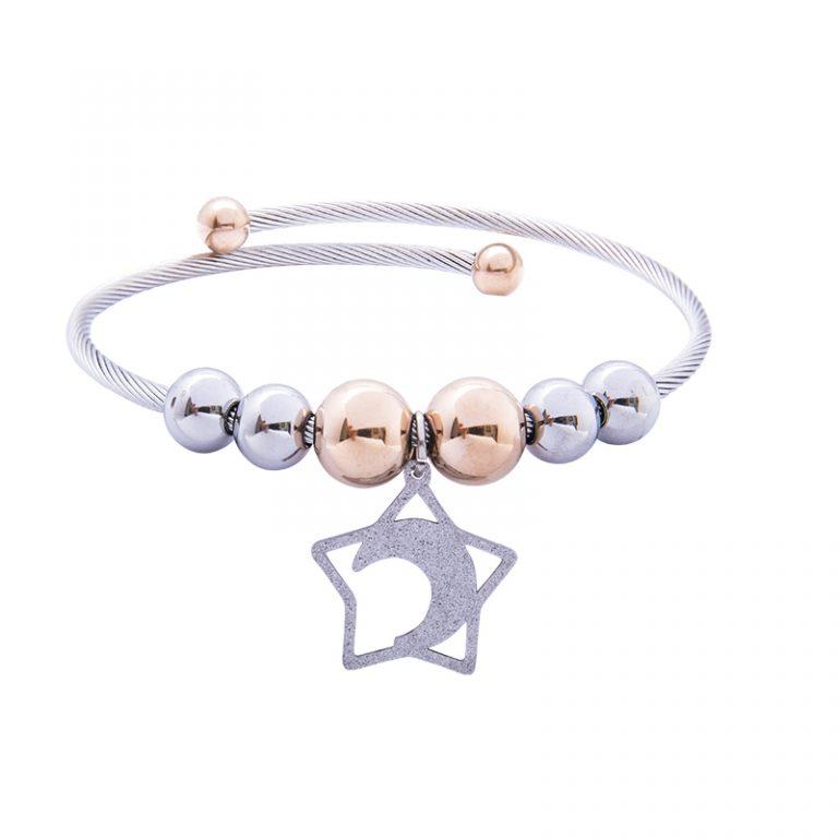 Babette bracciale in acciaio con IP rosa B14301 4 You Jewels