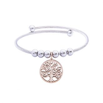 Babette bracciale in acciaio con IP rosa B14303 4 You Jewels