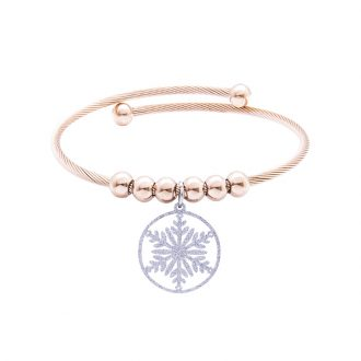 Babette bracciale in acciaio con IP rosa B14304 4 You Jewels