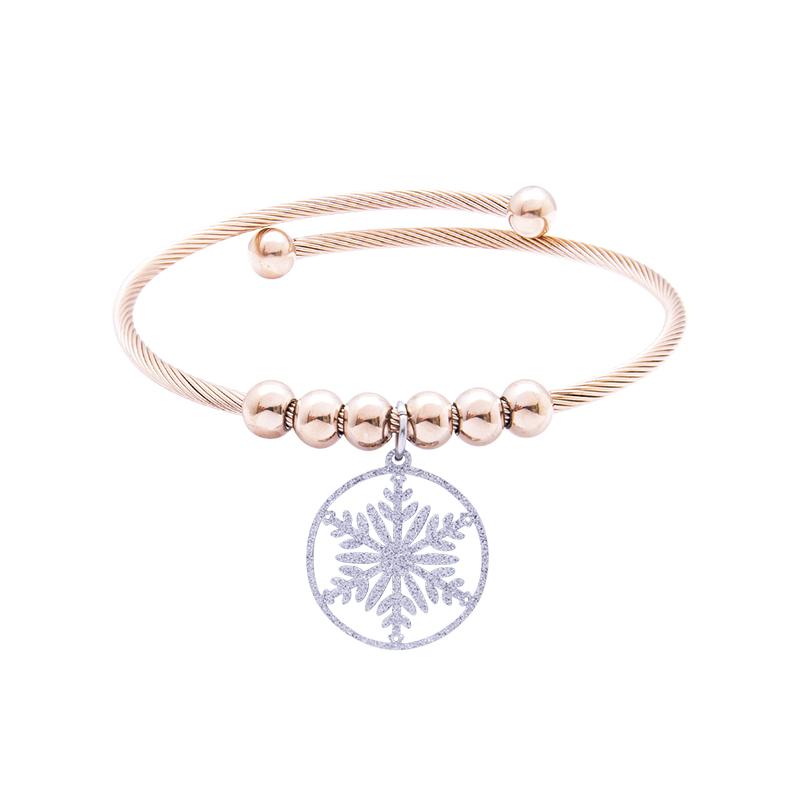 Babette bracciale in acciaio con IP rosa B14304 4 You Jewels