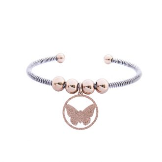 Babette bracciale in acciaio con IP rosa B14307 4 You Jewels
