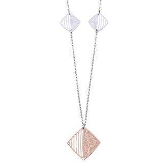Chantel collana in acciaio con IP rosa N14318 4 You Jewels
