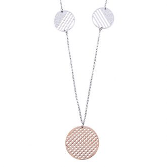 Chantel collana in acciaio con IP rosa N14319 4 You Jewels
