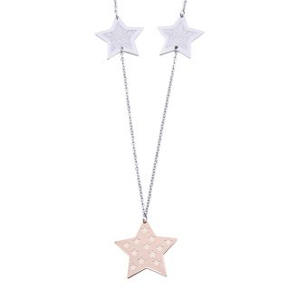 Chantel collana in acciaio con IP rosa N14320 4 You Jewels