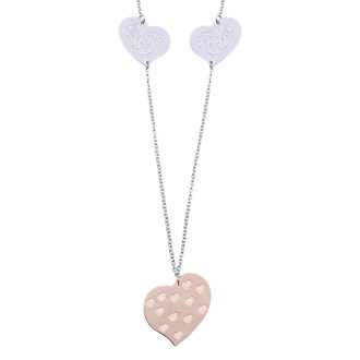 Chantel collana in acciaio con IP rosa N14321 4 You Jewels