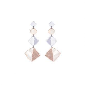 Chantel orecchini in acciaio con IP rosa E14318 4 You Jewels