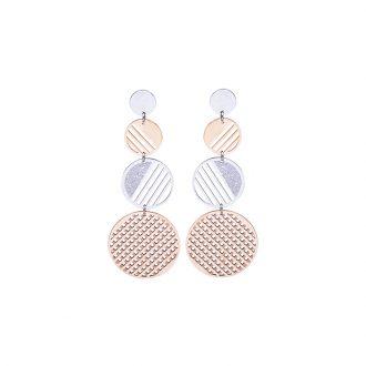 Chantel orecchini in acciaio con IP rosa E14319 4 You Jewels