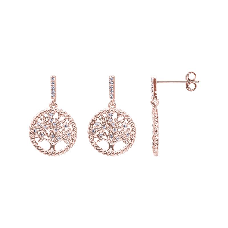 Life Sentimenti Orecchini in ottone rodiato e rosato con zirconi E14191 For You Jewels