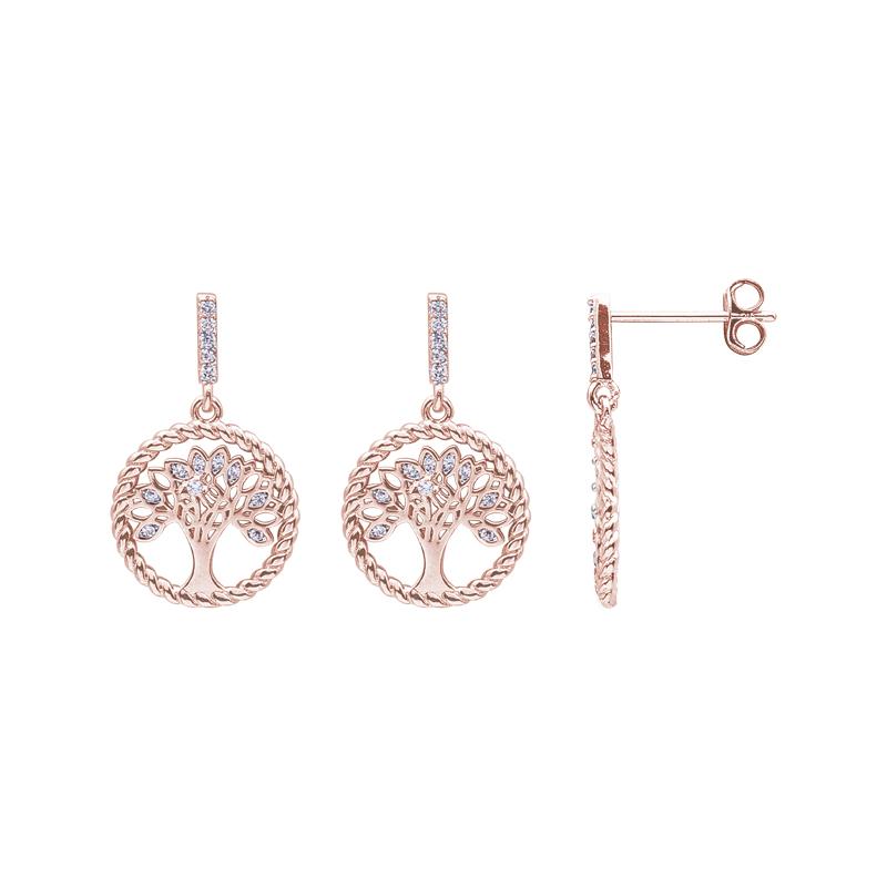 Life Sentimenti Orecchini in ottone rodiato e rosato con zirconi E14193 For You Jewels