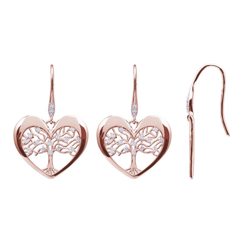 Life Sentimenti Orecchini in ottone rodiato e rosato con zirconi E14197 For You Jewels