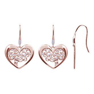 Life Sentimenti Orecchini in ottone rodiato e rosato con zirconi E14199 For You Jewels