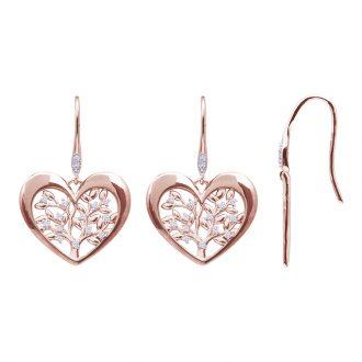 Life Sentimenti Orecchini in ottone rodiato e rosato con zirconi E14201 For You Jewels
