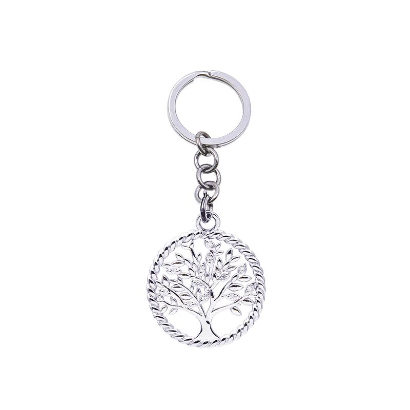 Life Sentimenti Portachiavi in acciaio e charm in ottone rodiato con zirconi K14190 For You Jewels