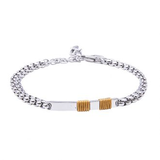 Man Identity bracciale in acciaio B14107 4 You Jewels