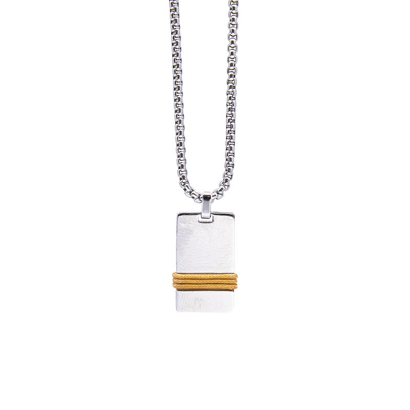 Man Identity collana in acciaio P14107 4 You Jewels
