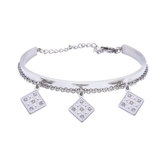 Marilyn Bracciale in acciaio e cristalli B14309 4 You Jewels