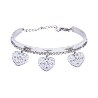 Marilyn Bracciale in acciaio e cristalli B14310 4 You Jewels