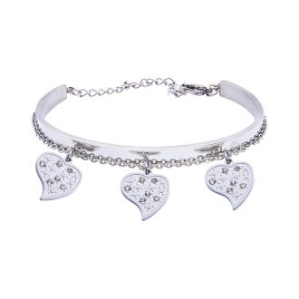 Marilyn Bracciale in acciaio e cristalli B14311 4 You Jewels