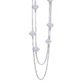 Maxime collana in acciaio e cristalli N14309 4 You Jewels
