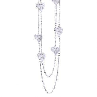 Maxime collana in acciaio e cristalli N14311 4 You Jewels