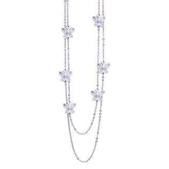 Maxime collana in acciaio e cristalli N14312 4 You Jewels