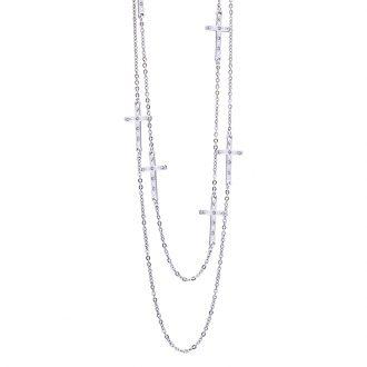 Maxime collana in acciaio e cristalli N14313 4 You Jewels