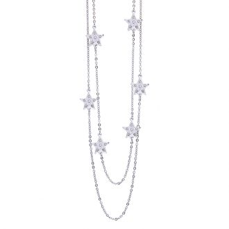 Maxime collana in acciaio e cristalli N14314 4 You Jewels