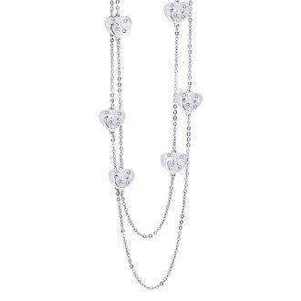 Maxime collana in acciaio e cristalli N14315 4 You Jewels
