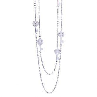 Maxime collana in acciaio e cristalli N14316 4 You Jewels