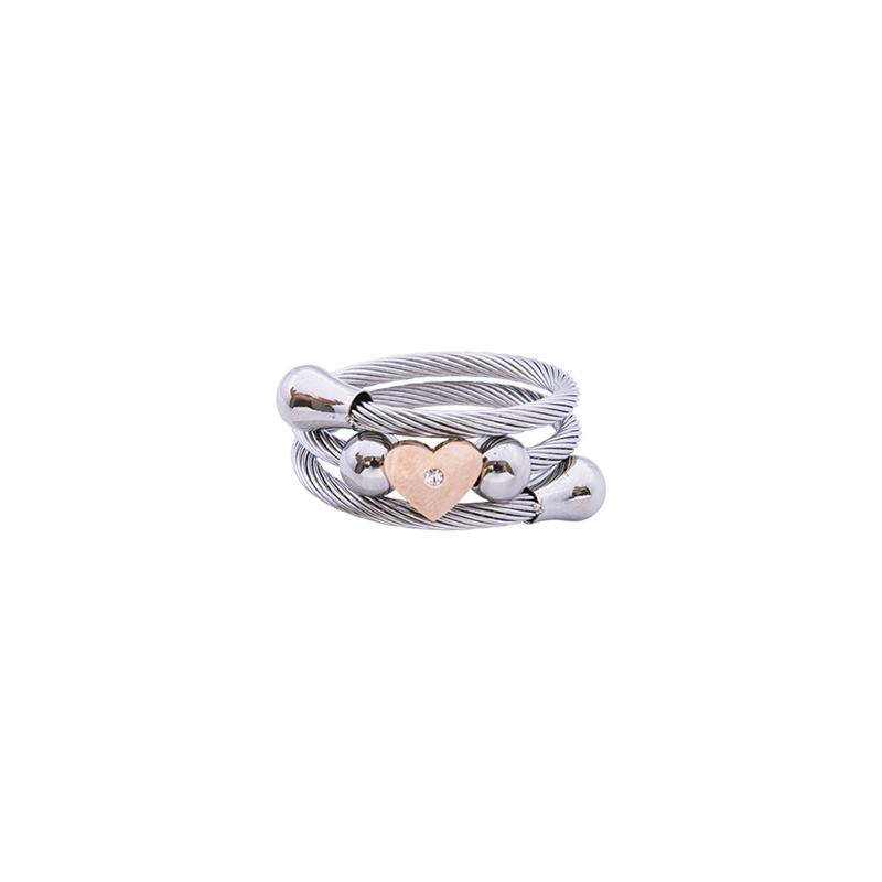Paulette Anello in acciaio con IP rosa R14176 4 You Jewels