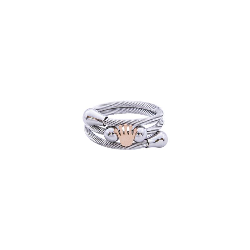 Paulette Anello in acciaio con IP rosa R14177 4 You Jewels