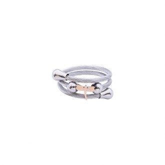 Paulette Anello in acciaio con IP rosa R14178 4 You Jewels