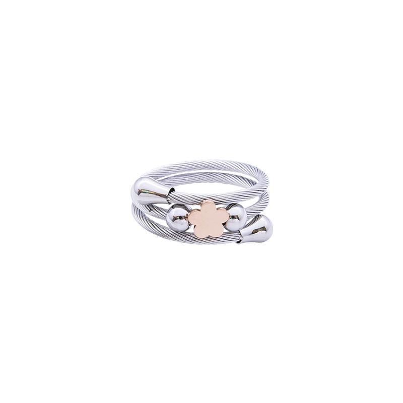 Paulette Anello in acciaio con IP rosa R14179 4 You Jewels