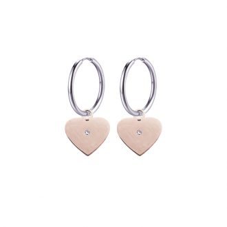 Paulette Orecchini in acciaio con IP rosa E14176 4 You Jewels