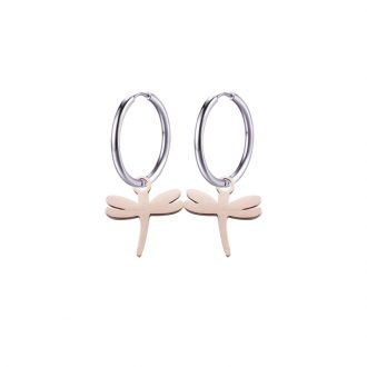 Paulette Orecchini in acciaio con IP rosa E14178 4 You Jewels