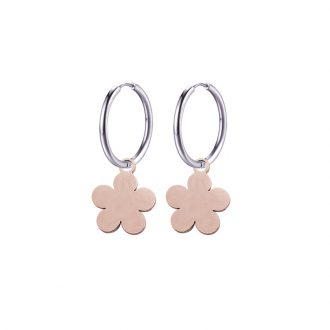 Paulette Orecchini in acciaio con IP rosa E14179 4 You Jewels