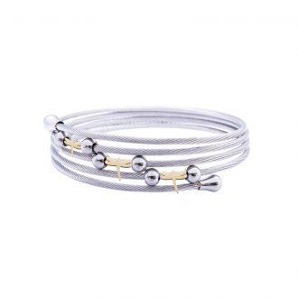 Amaryllis bracciale in acciaio con IP oro B14178GP 4 You Jewels