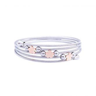 Amaryllis bracciale in acciaio con IP rosa B14179PP 4 You Jewels