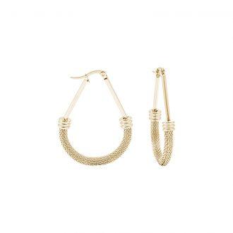 Charlene orecchini in acciaio con IP oro E15013GP 4 You Jewels