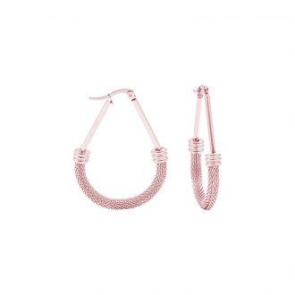 Charlene orecchini in acciaio con IP oro E15013PP 4 You Jewels