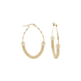 Charlene orecchini in acciaio con IP oro E15015GP 4 You Jewels