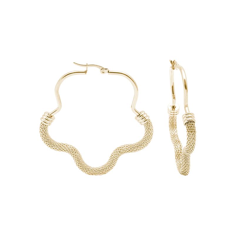 Charlene orecchini in acciaio con IP oro E15016GP 4 You Jewels