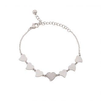Delicia bracciale in acciaio e cristalli B15466 4 You Jewels