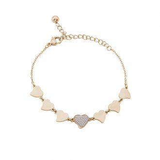 Delicia bracciale in acciaio con IP oro B15468 4 You Jewels