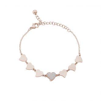 Delicia bracciale in acciaio con IP rosa B15467 4 You Jewels