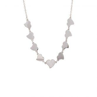 Delicia collana in acciaio e cristalli N15466 4 You Jewels